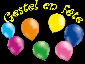 Logo Gestel en fête ballon