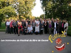 Bénévoles du Festival du Rire de Gestel